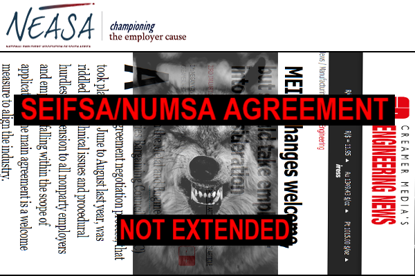 SEIFSA/NUMSA Non-extension